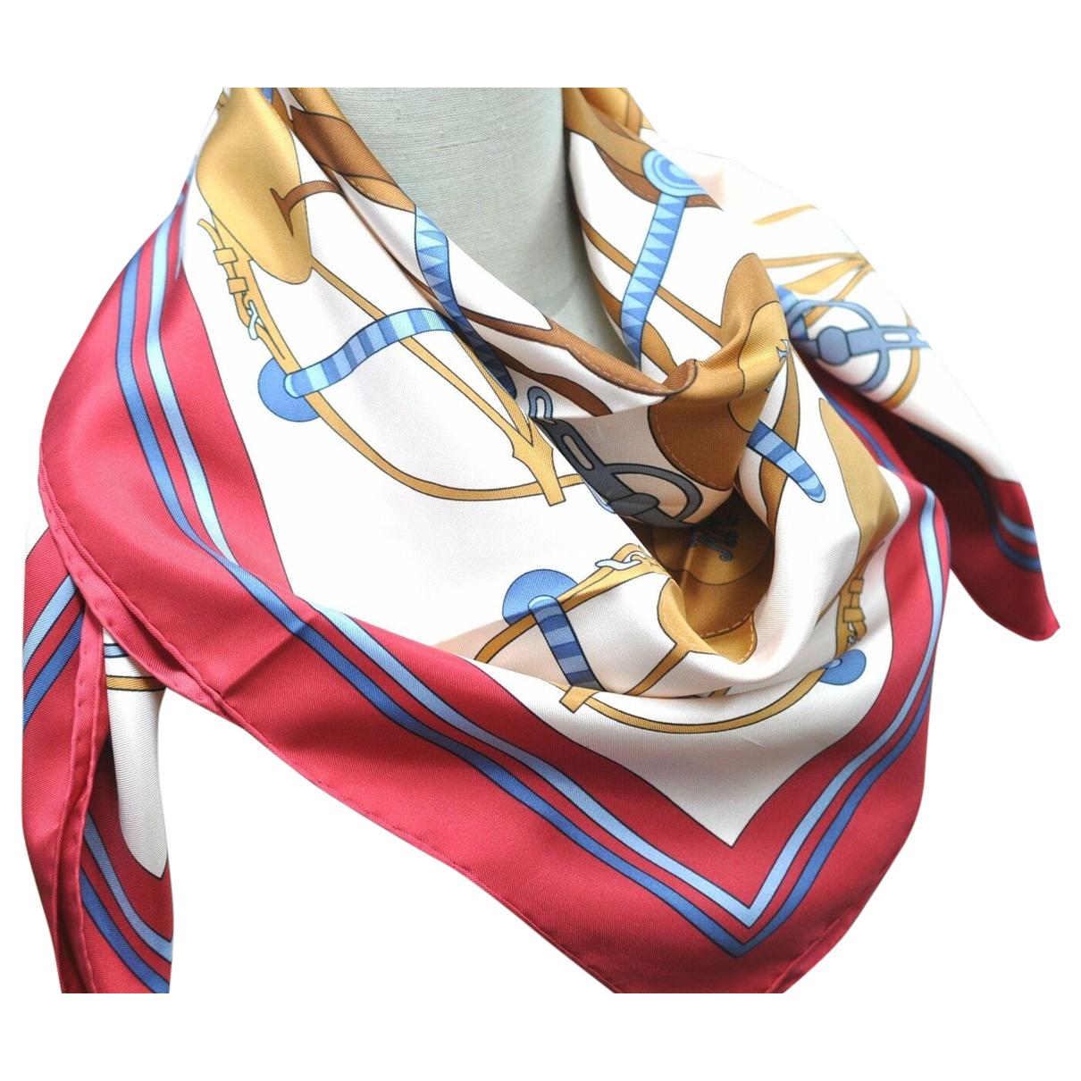 Hermes - Foulard   pour femme en soie - rouge