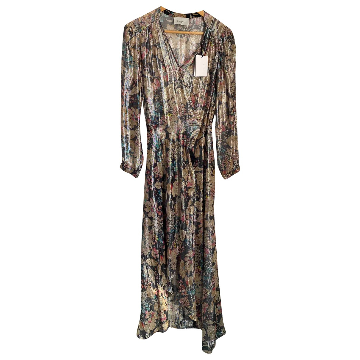 Berenice \N Kleid in  Metallic Viskose