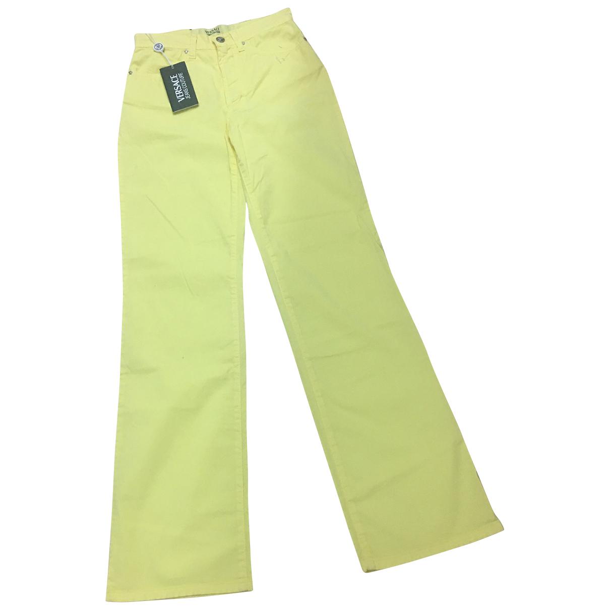 Versace Jean - Pantalon   pour enfant en coton - jaune