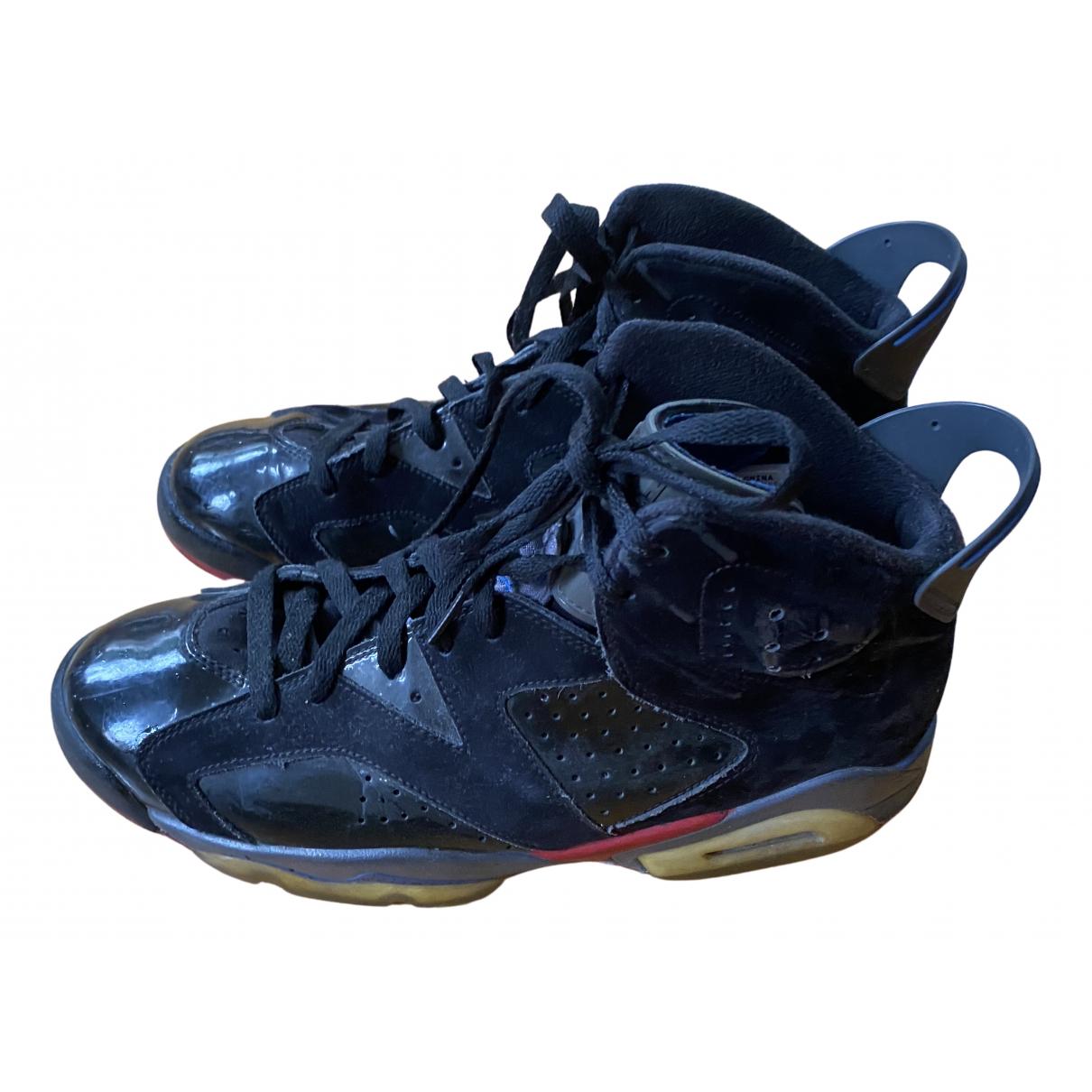Jordan - Baskets Air Jordan 6  pour homme en cuir - noir