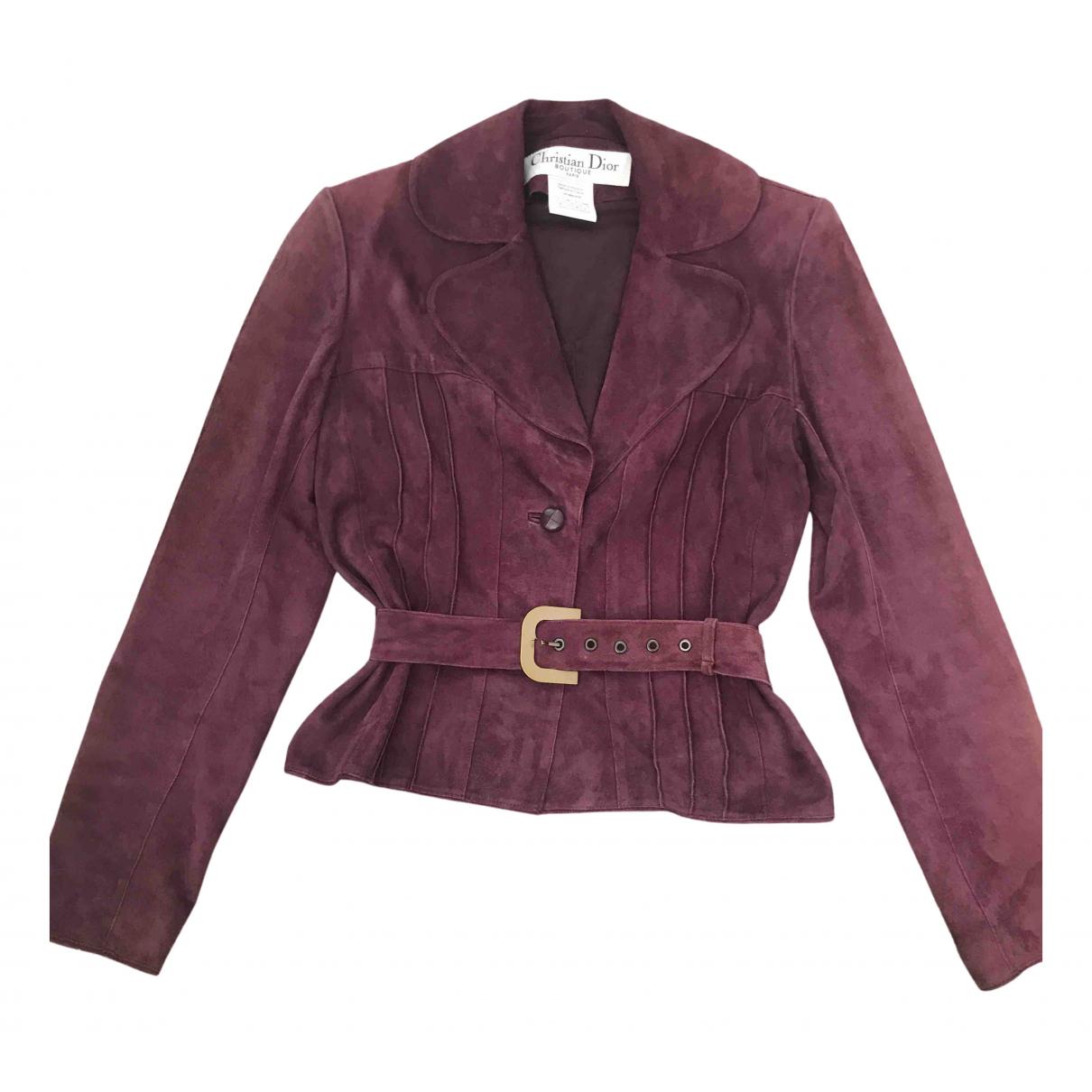 Dior - Veste   pour femme en suede - violet