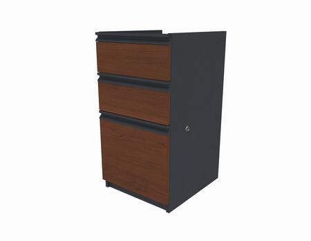99620-2139 Prestige + Pedestal Including Three Drawers with One Lock Secures Bottom Two Drawers in Bordeaux and