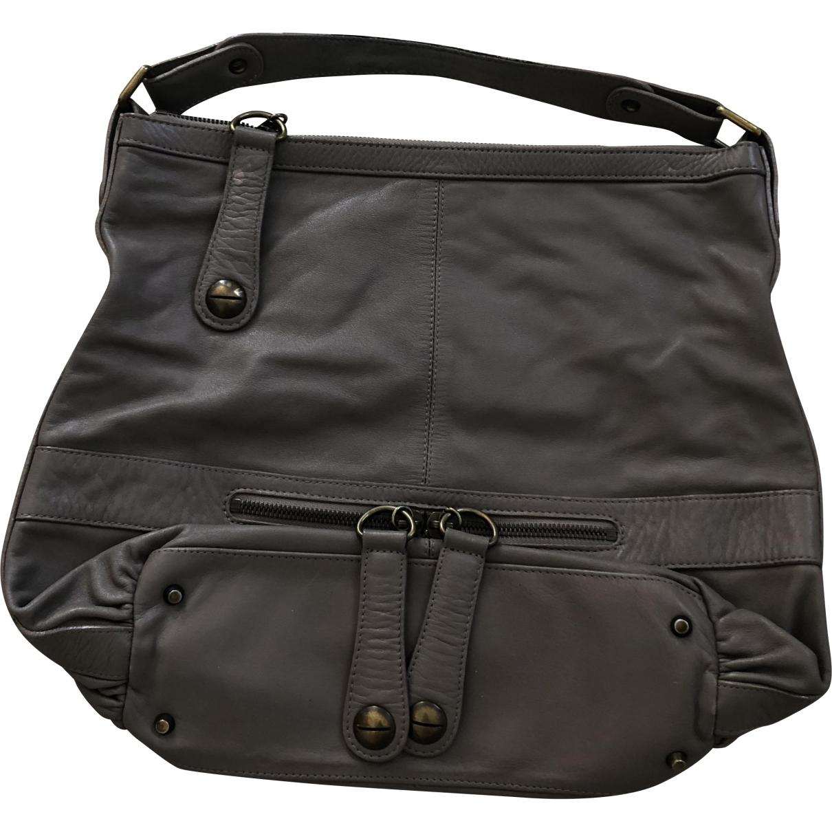 Gerard Darel Midday Midnight Handtasche in  Grau Leder