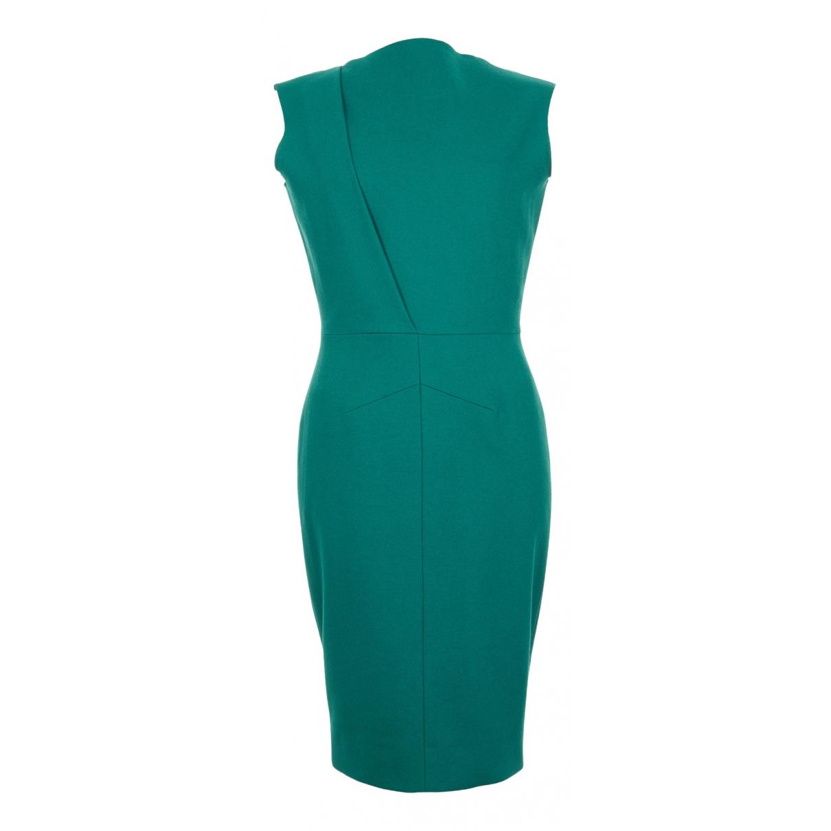 Victoria Beckham N Green Wool dress for Women 12 UK