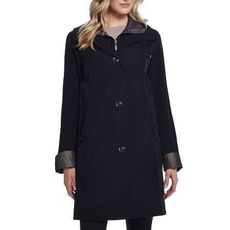 Miss Gallery Midweight Raincoat, Large , Black