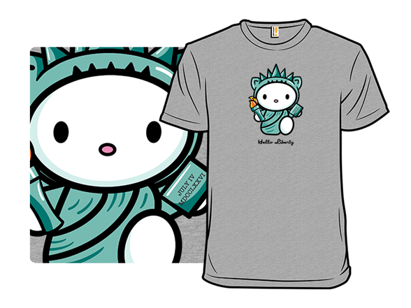 Kitty Of Liberty T Shirt