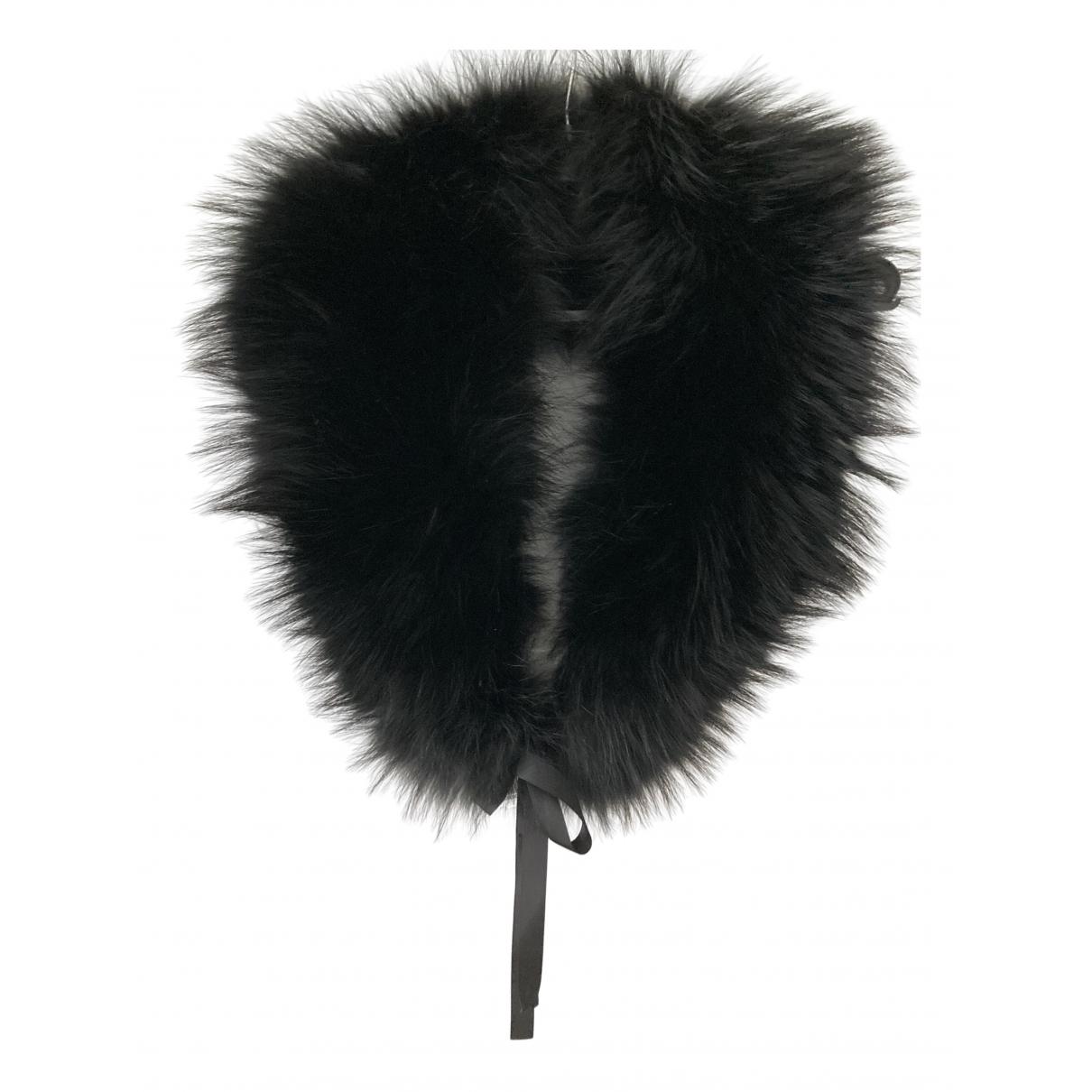 - Foulard   pour femme en racoon - noir