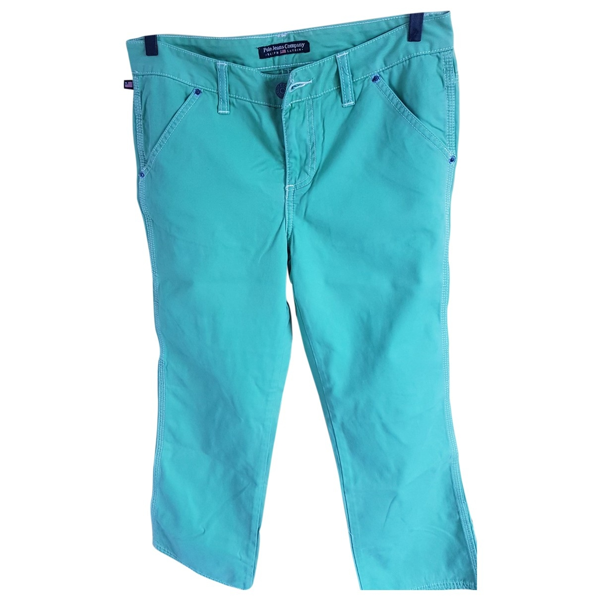 Pantalon en Algodon Verde Polo Ralph Lauren