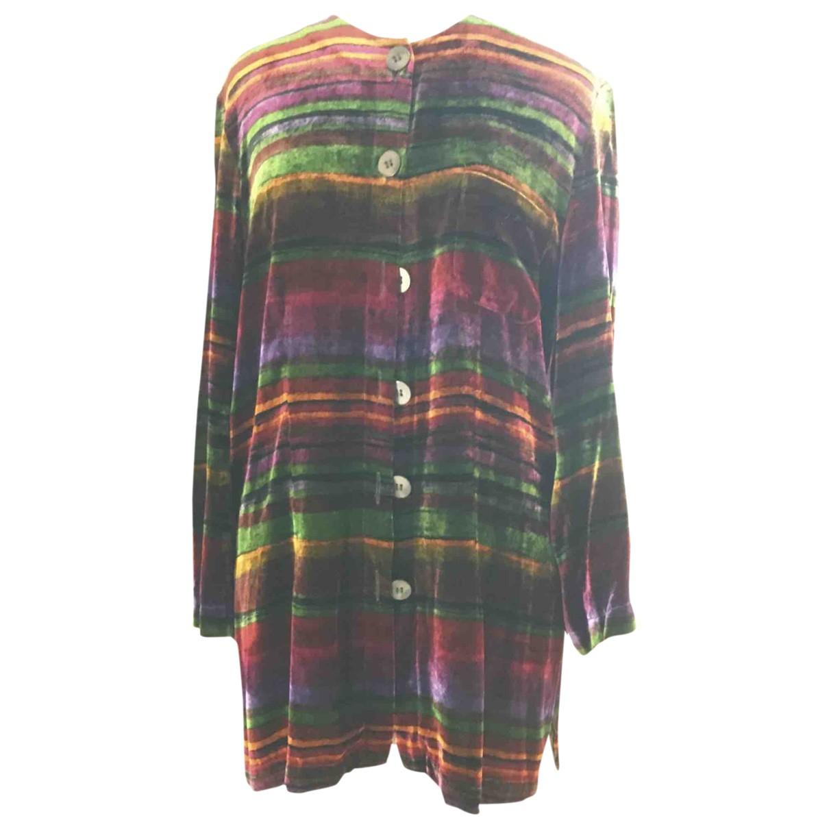 - Veste   pour femme en velours - multicolore