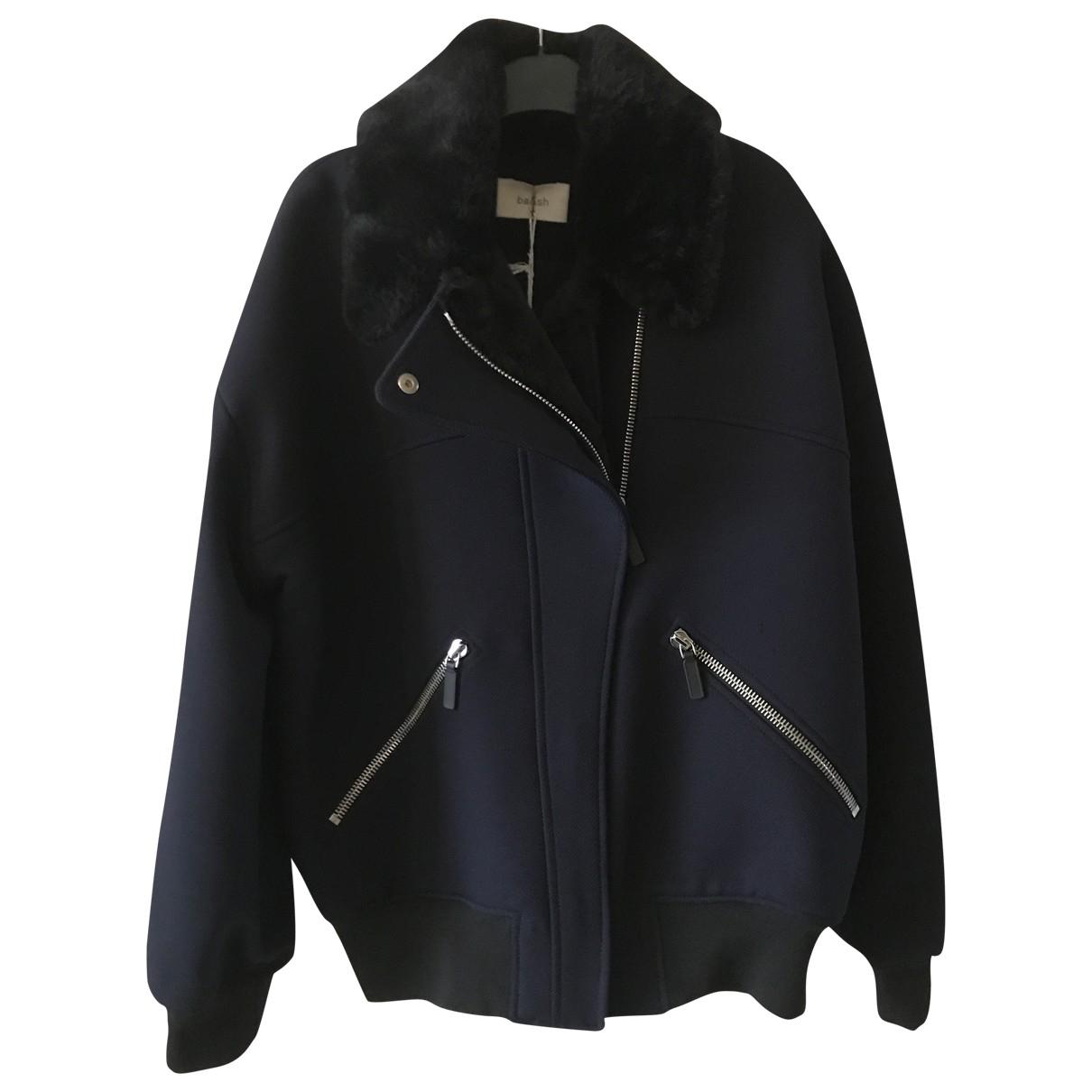 Ba&sh \N Navy Leather jacket for Women 38 FR