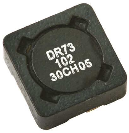 Eaton Bussmann Series , DR73/74/125/127, 73 Shielded Wire-wound SMD Inductor with a Ferrite Core, 47 μH ±20% Wire-Wound (5)