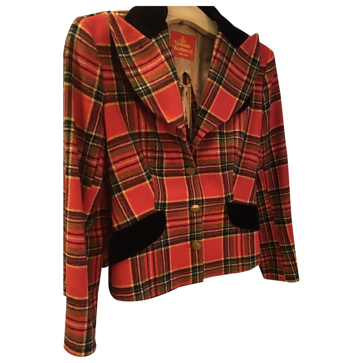 Vivienne Westwood Red Label \N Red Wool jacket for Women 44 IT