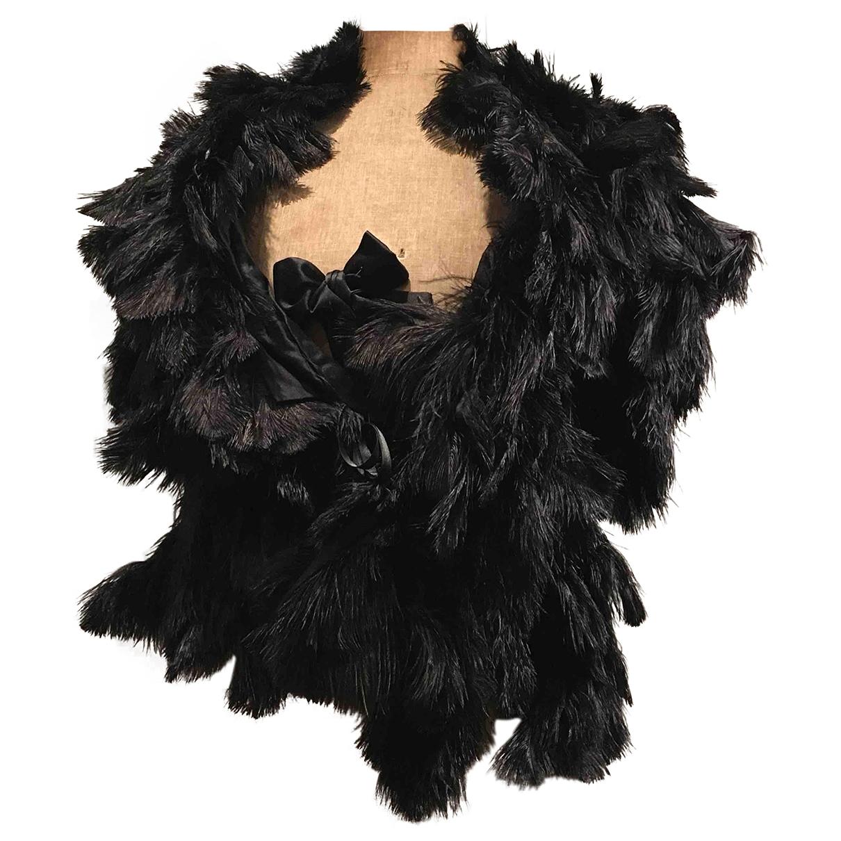 Sonia Rykiel - Veste   pour femme en cuir exotique - noir