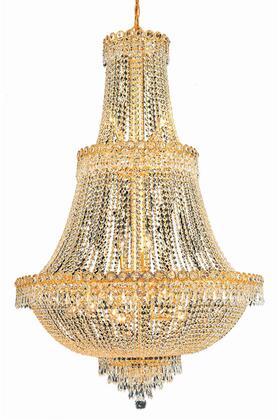 V1900G30G/EC 1900 Century Collection Chandelier D:30In H:48In Lt:17 Gold Finish (Elegant Cut
