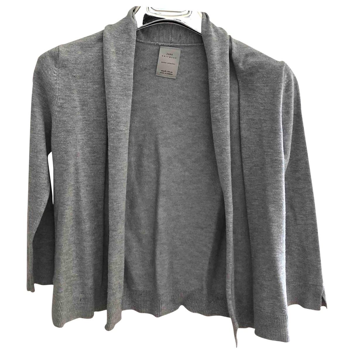Zara - Pull   pour enfant en coton - gris