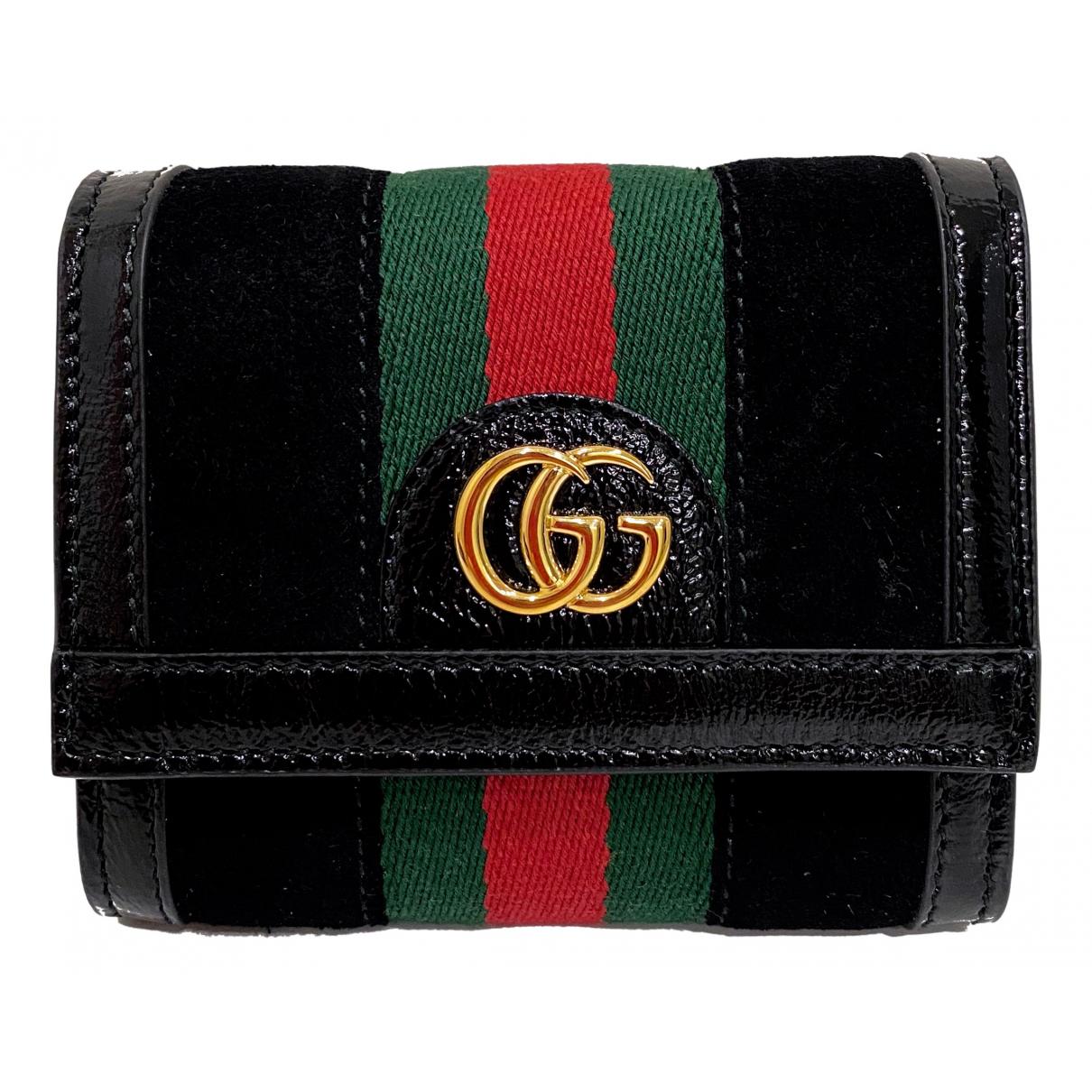 Gucci - Portefeuille Ophidia pour femme en velours - noir