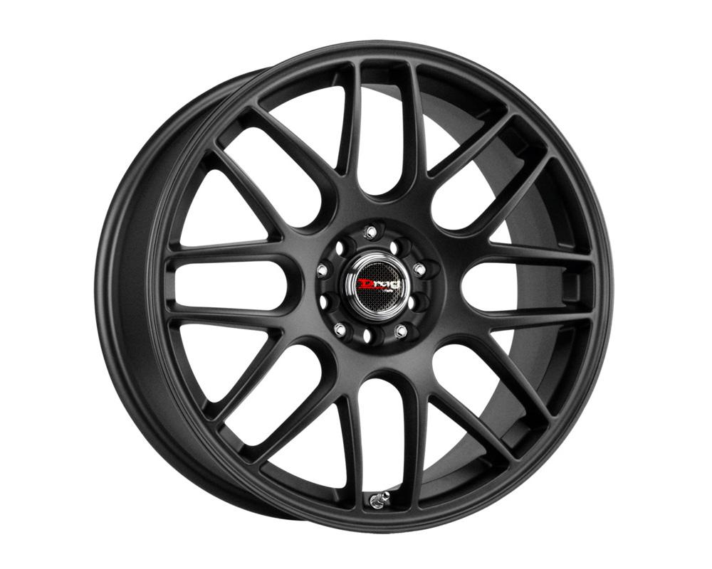 Drag DR-34 Flat Black Full Painted 16x7 5x100/114.3 40mm