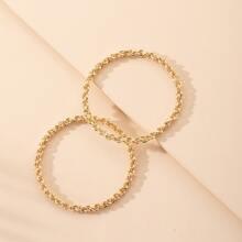 2pcs Chain Design Bangle