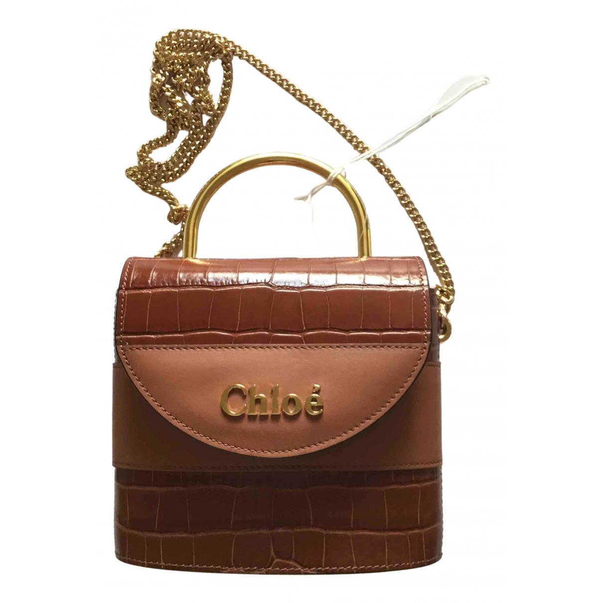 Chloe Aby Handtasche in  Braun Leder