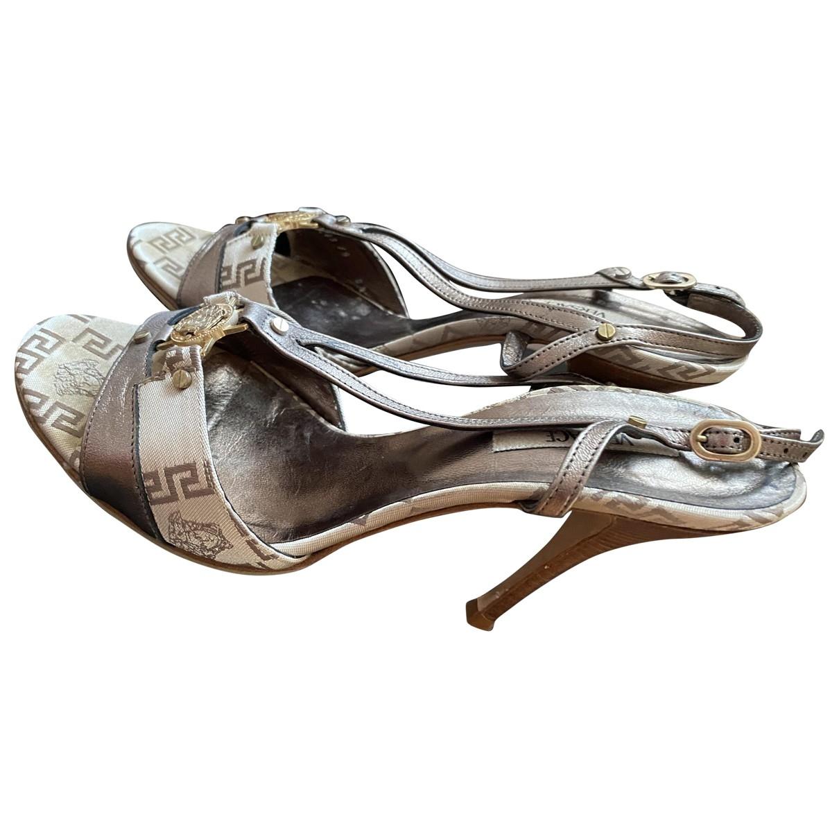 Sandalias de Lona Versace