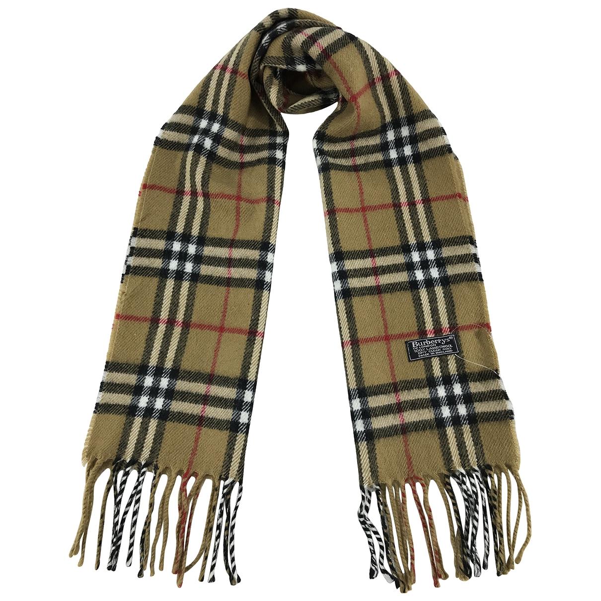 Burberry \N Schal in  Beige Wolle