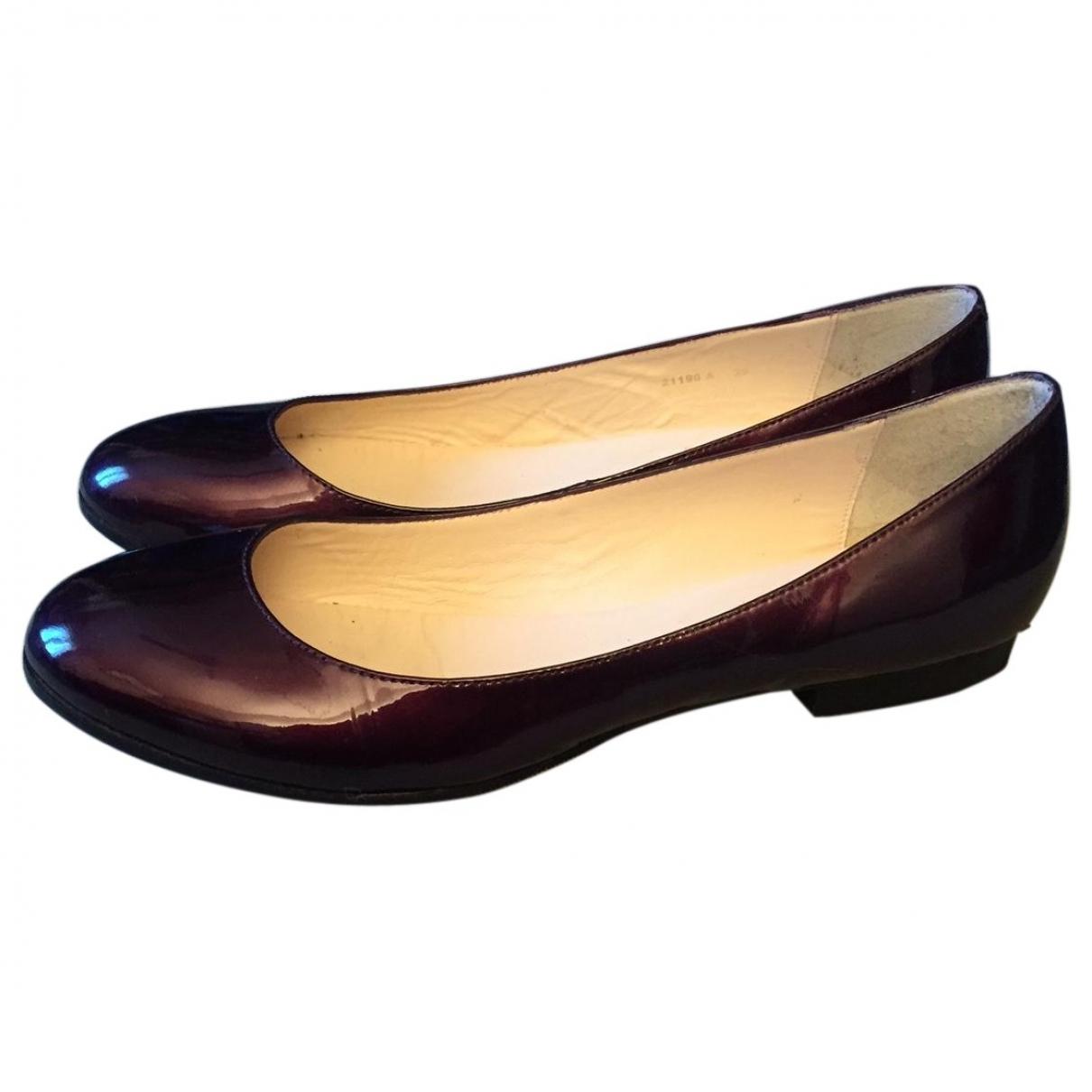 Lk Bennett \N Purple Patent leather Ballet flats for Women 39 EU