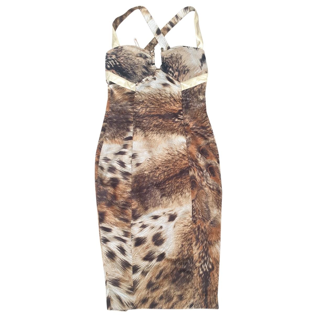 Just Cavalli - Robe   pour femme en soie - marron