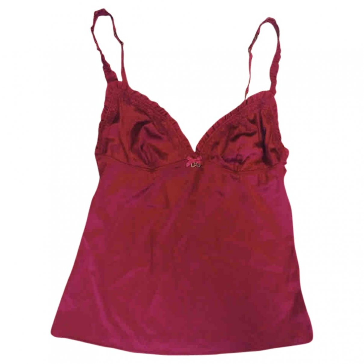 D&g \N Top in  Rot Polyester