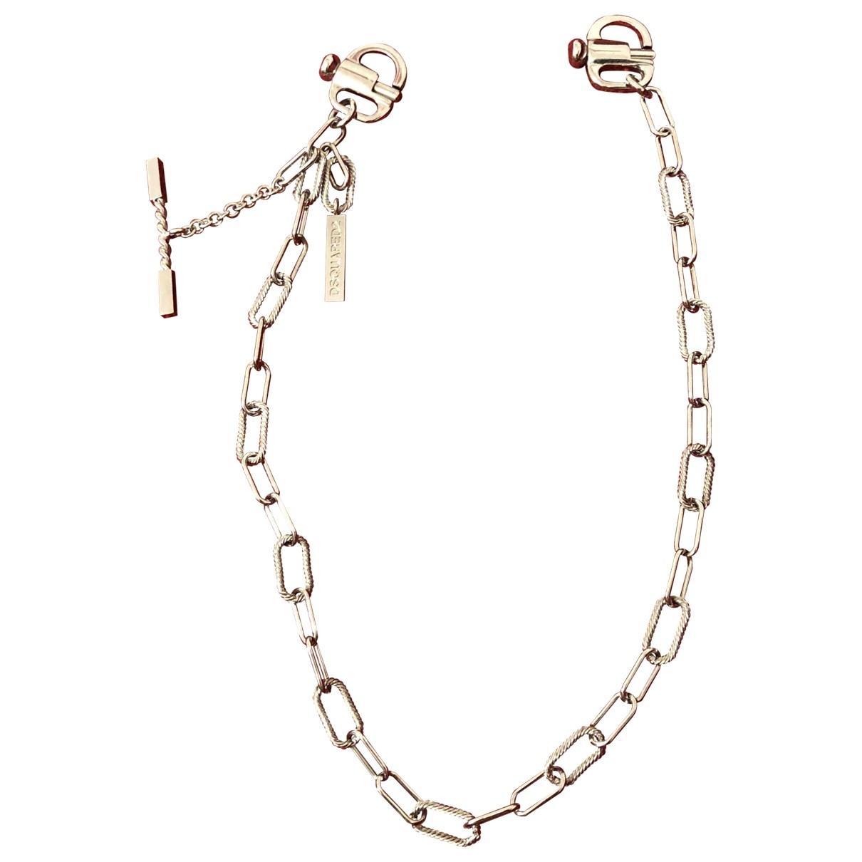Dsquared2 \N Silver Metal belt for Men 80 cm