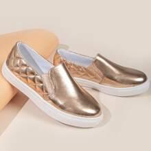 Gesteppte Slip On Skate Schuhe