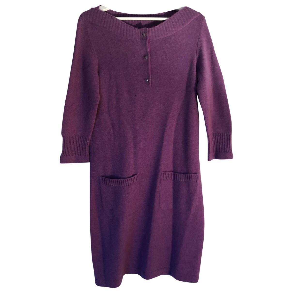 Chanel N Purple Cashmere dress for Women 38 FR