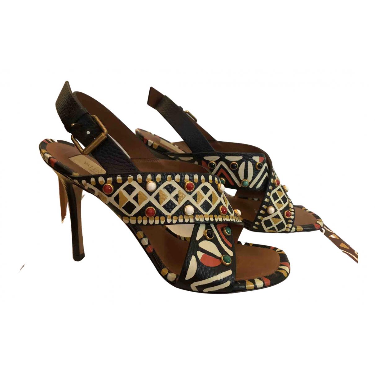 Valentino Garavani - Sandales   pour femme en cuir - multicolore