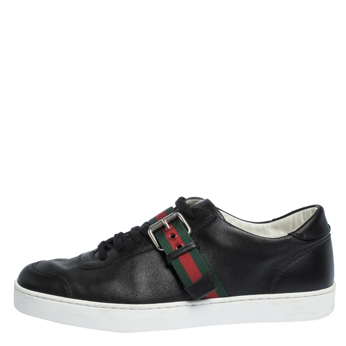 Gucci \N Black Leather Trainers for Men 11 US