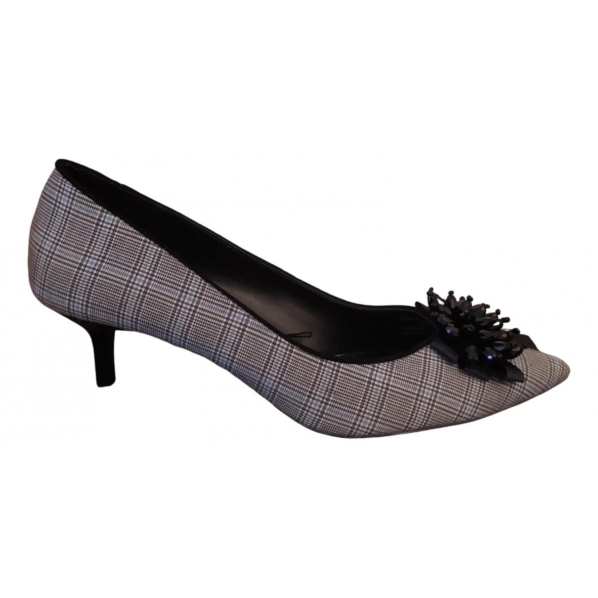 Zara \N Grey Tweed Heels for Women 38 EU
