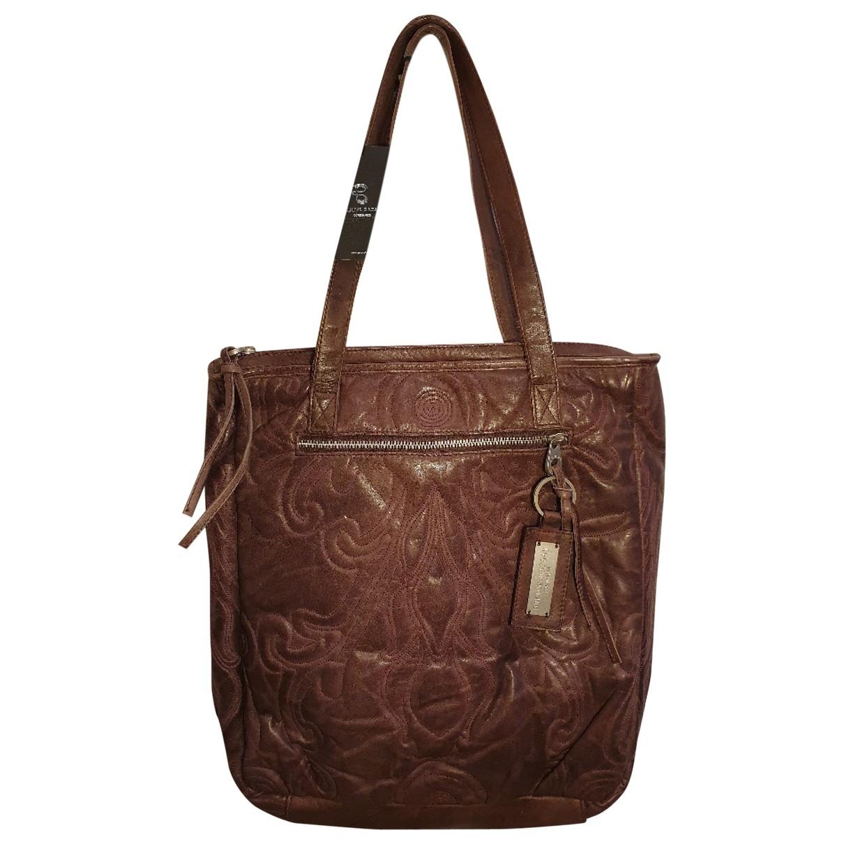 Bruuns Bazaar - Sac a main   pour femme en cuir - bordeaux