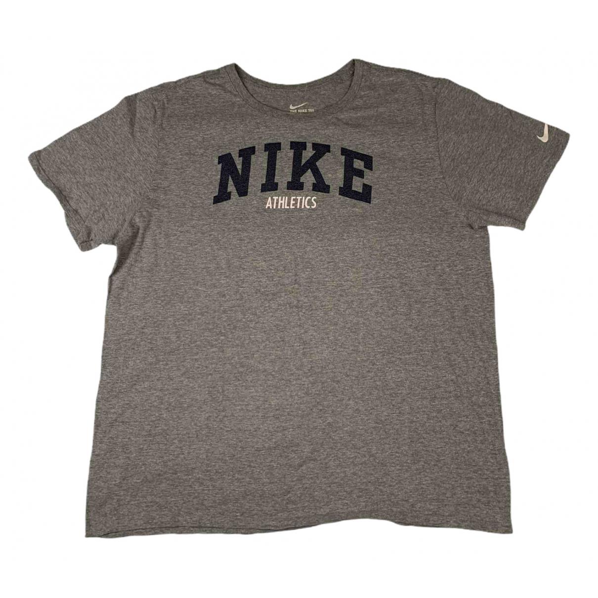 Nike - Tee shirts   pour homme en coton - gris