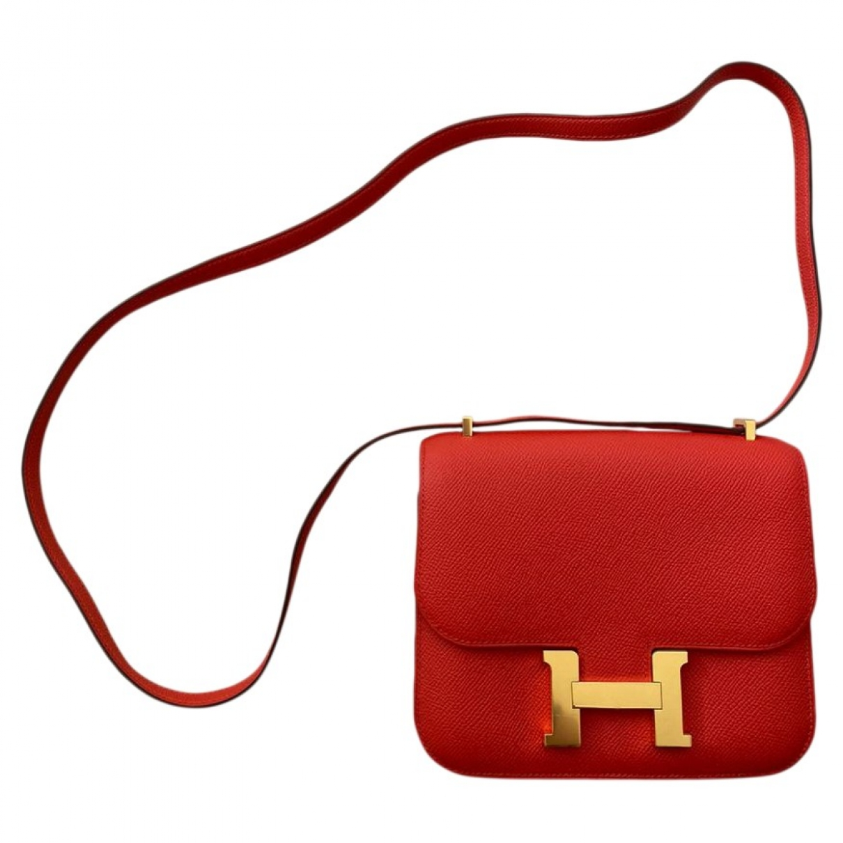 Hermès Constance Orange Leather handbag for Women \N