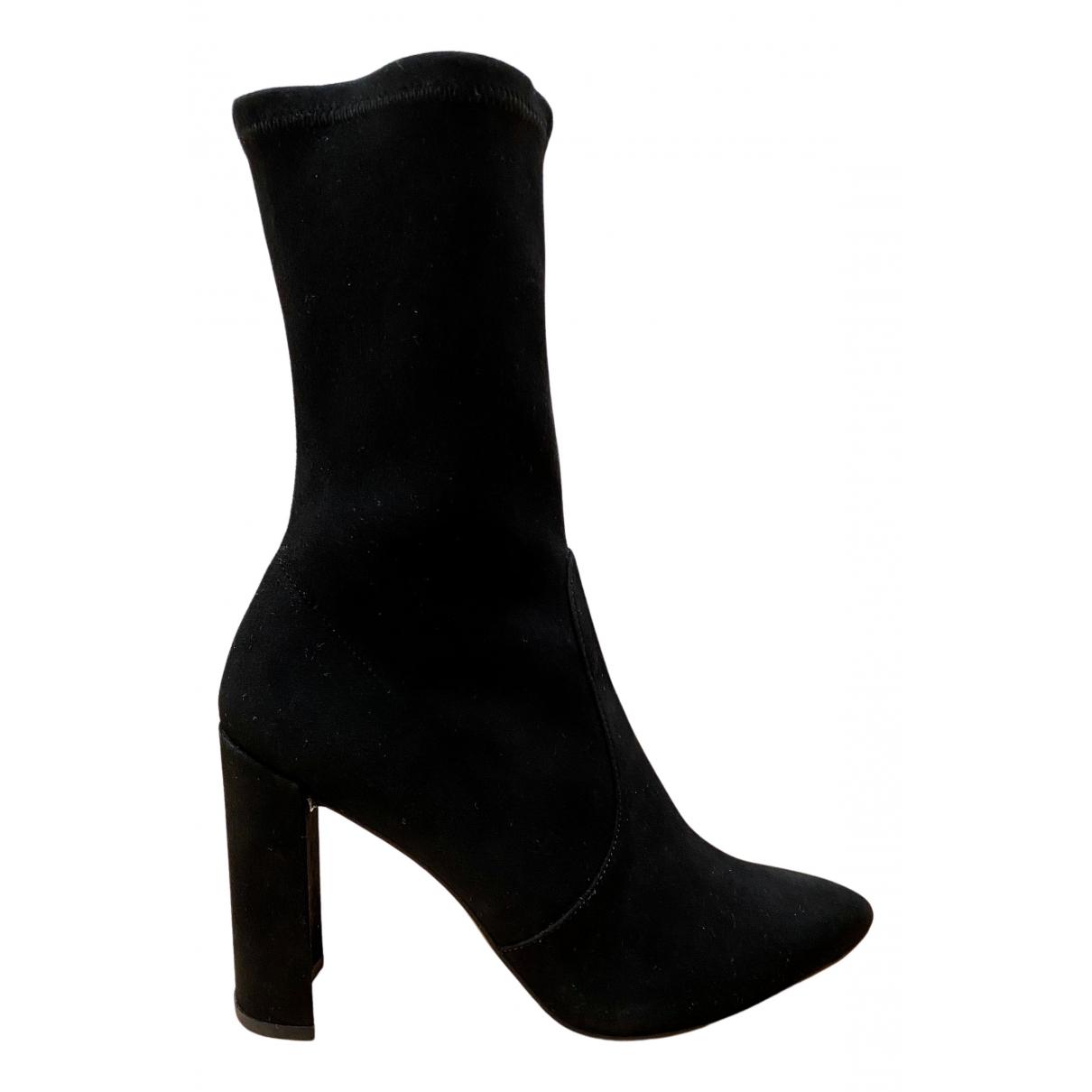 Stuart Weitzman N Black Suede Boots for Women 38.5 EU