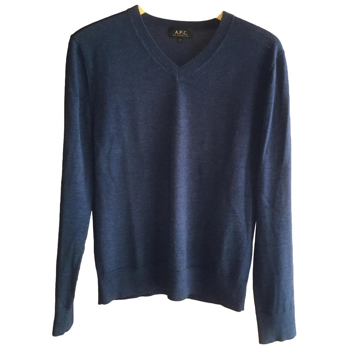 Apc \N Pullover.Westen.Sweatshirts  in  Blau Wolle