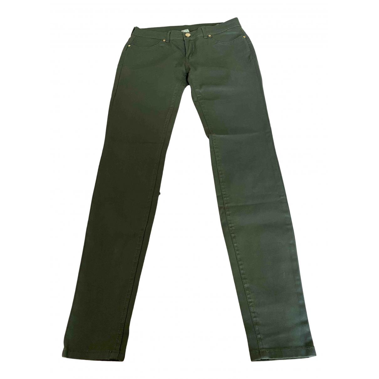 Mango N Khaki Trousers for Women 38 FR
