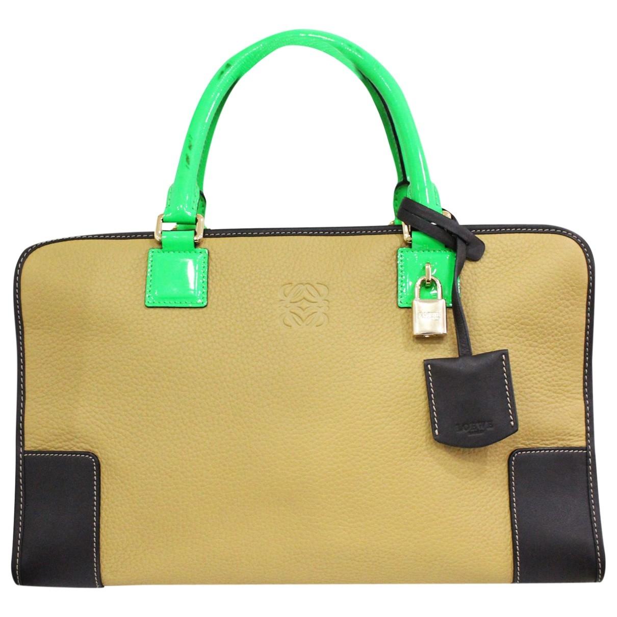 Loewe \N Beige Leather handbag for Women \N