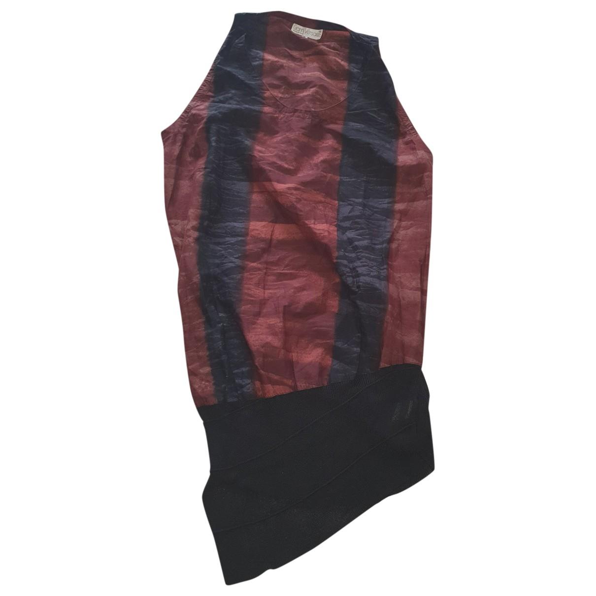 Gianni Versace \N Kleid in  Bunt Baumwolle