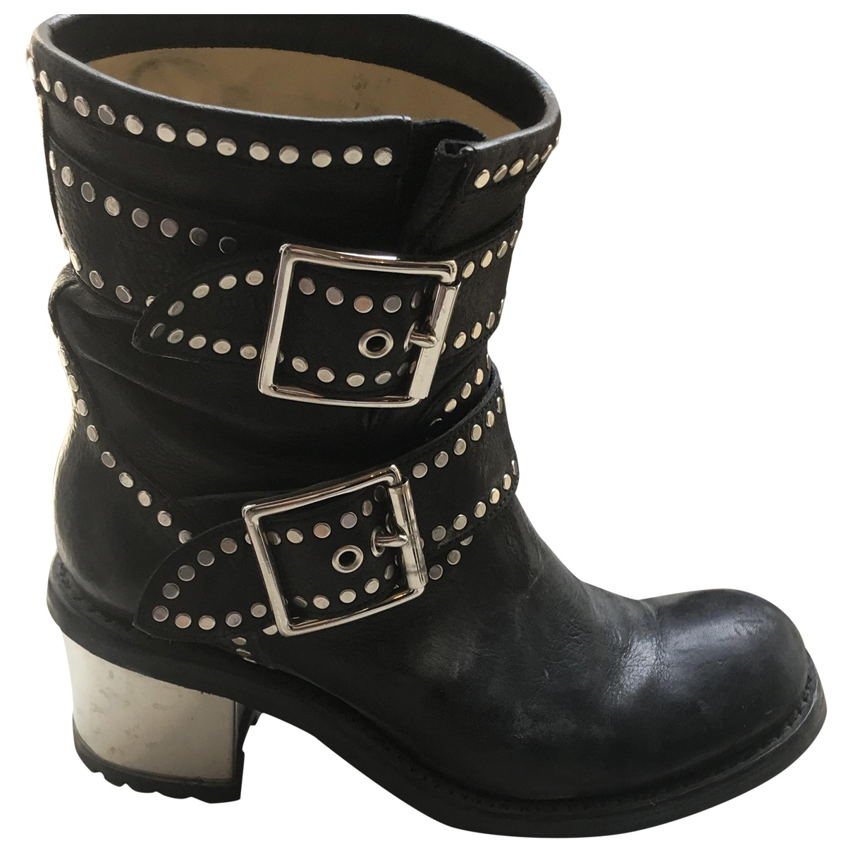Free Lance \N Black Leather Ankle boots for Women 38 EU