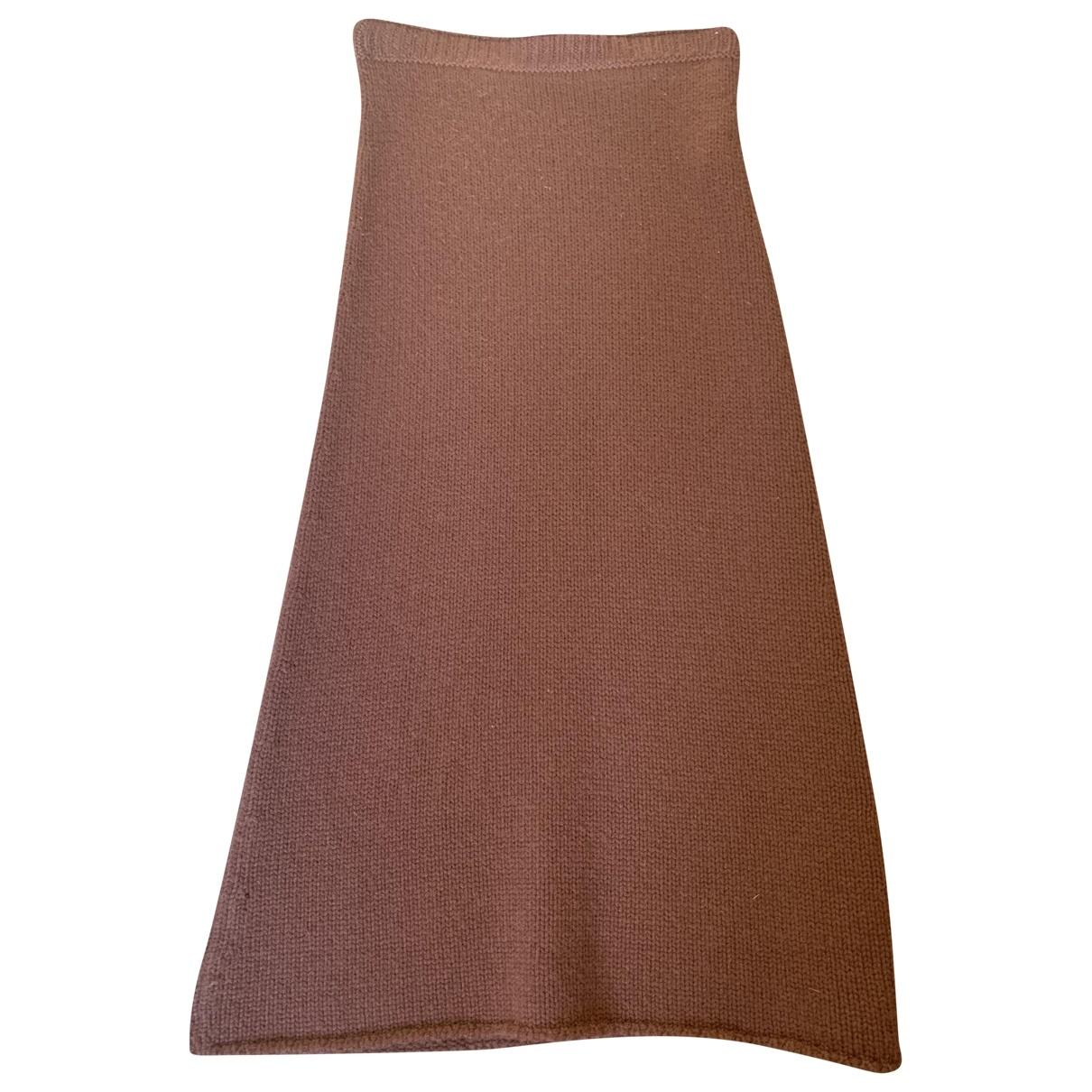 Falda midi de Cachemira Prada