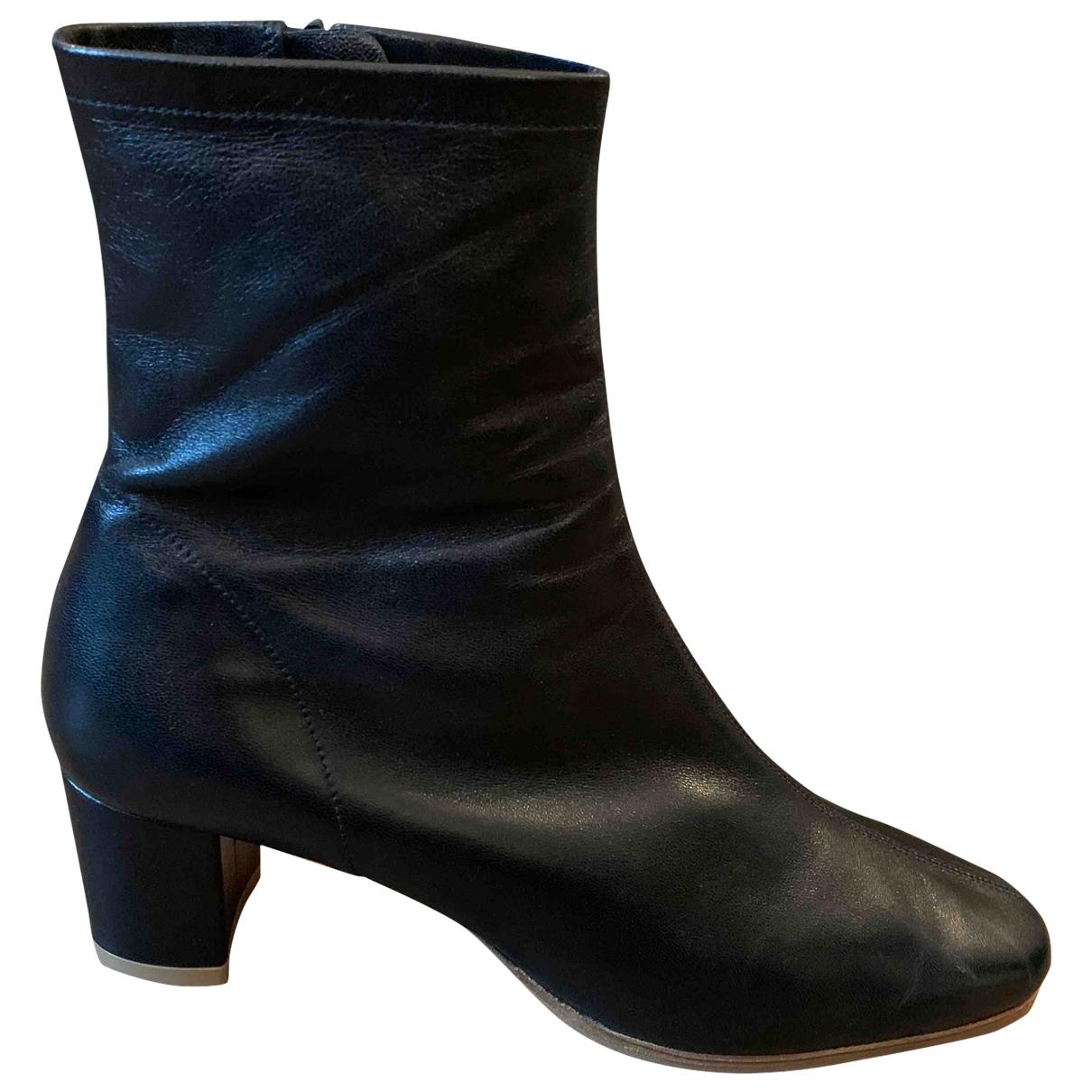 By Far - Boots   pour femme en cuir - noir