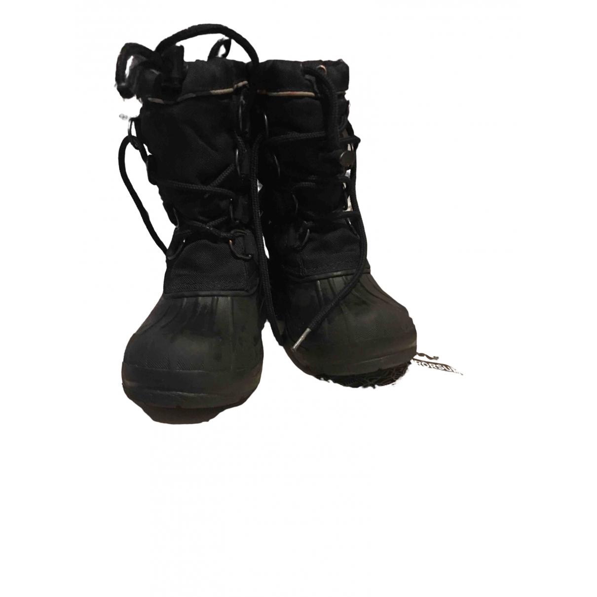 Burberry \N Black Cloth Boots for Kids 28 EU