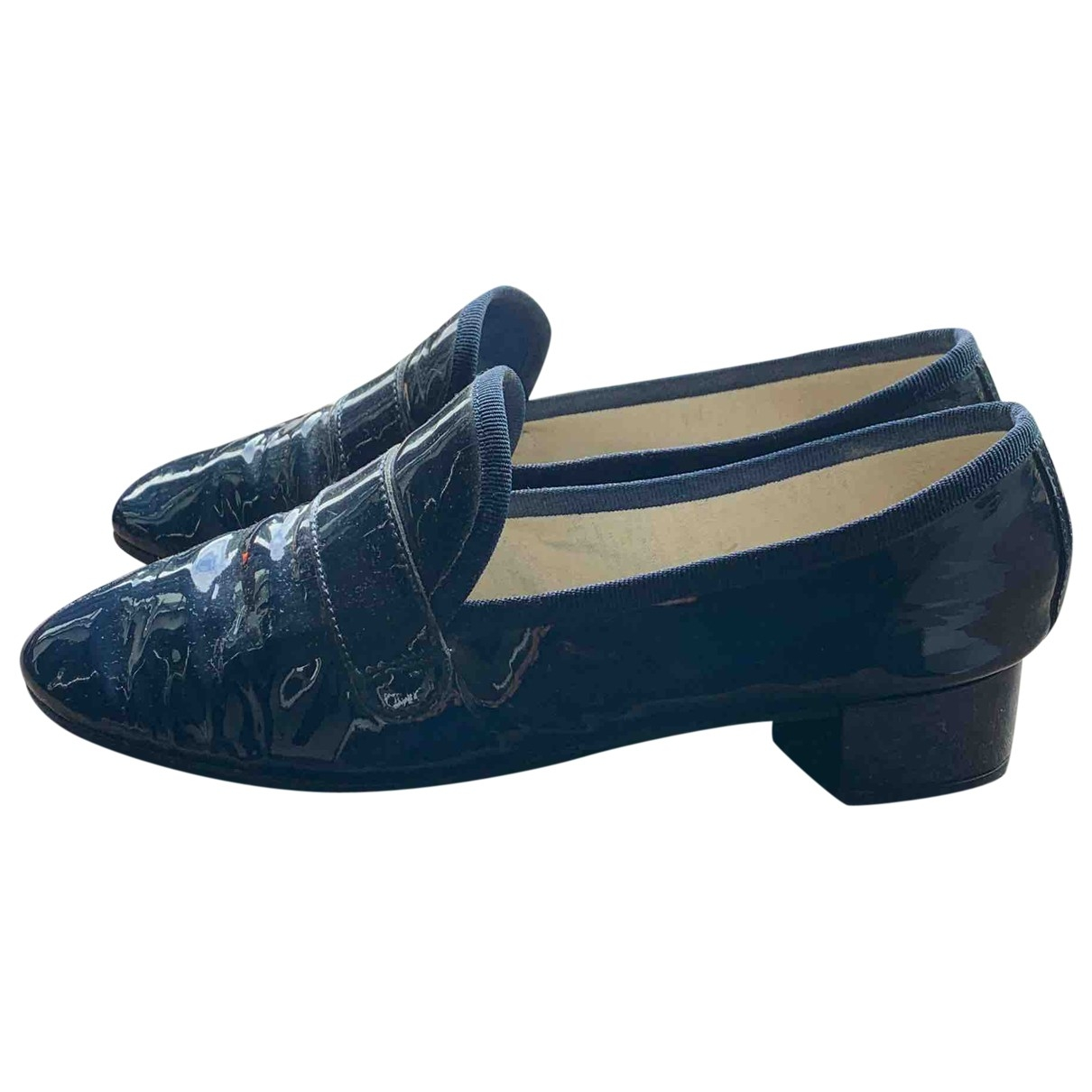 Repetto \N Blue Patent leather Flats for Women 38.5 EU