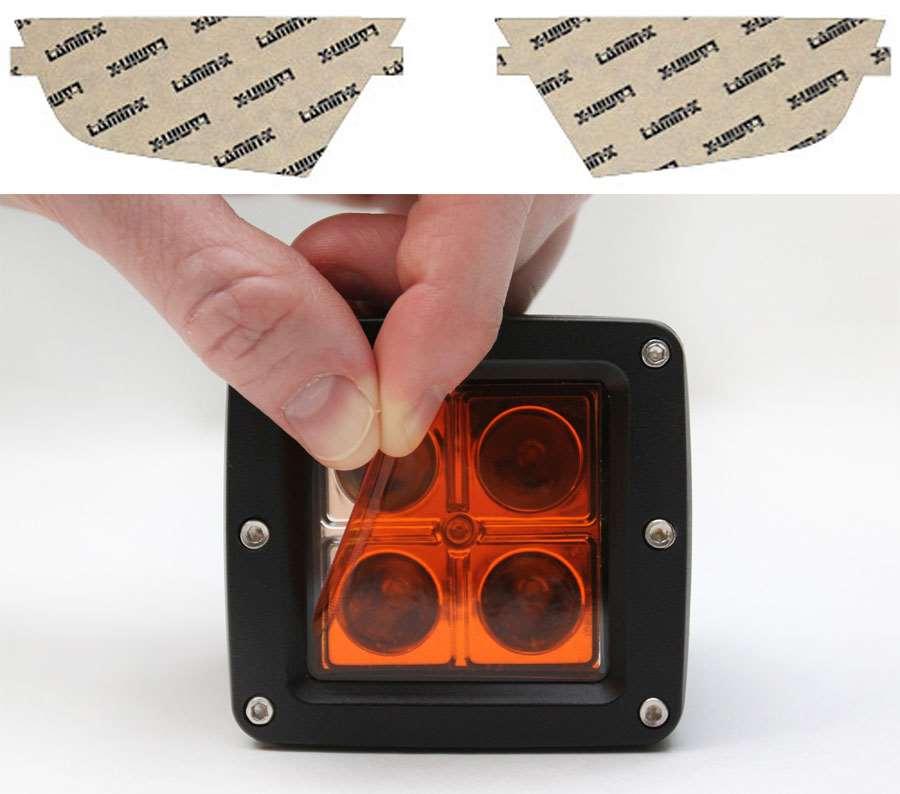 Kia Borrego 09-09 Amber Fog Light Covers Lamin-X K111A