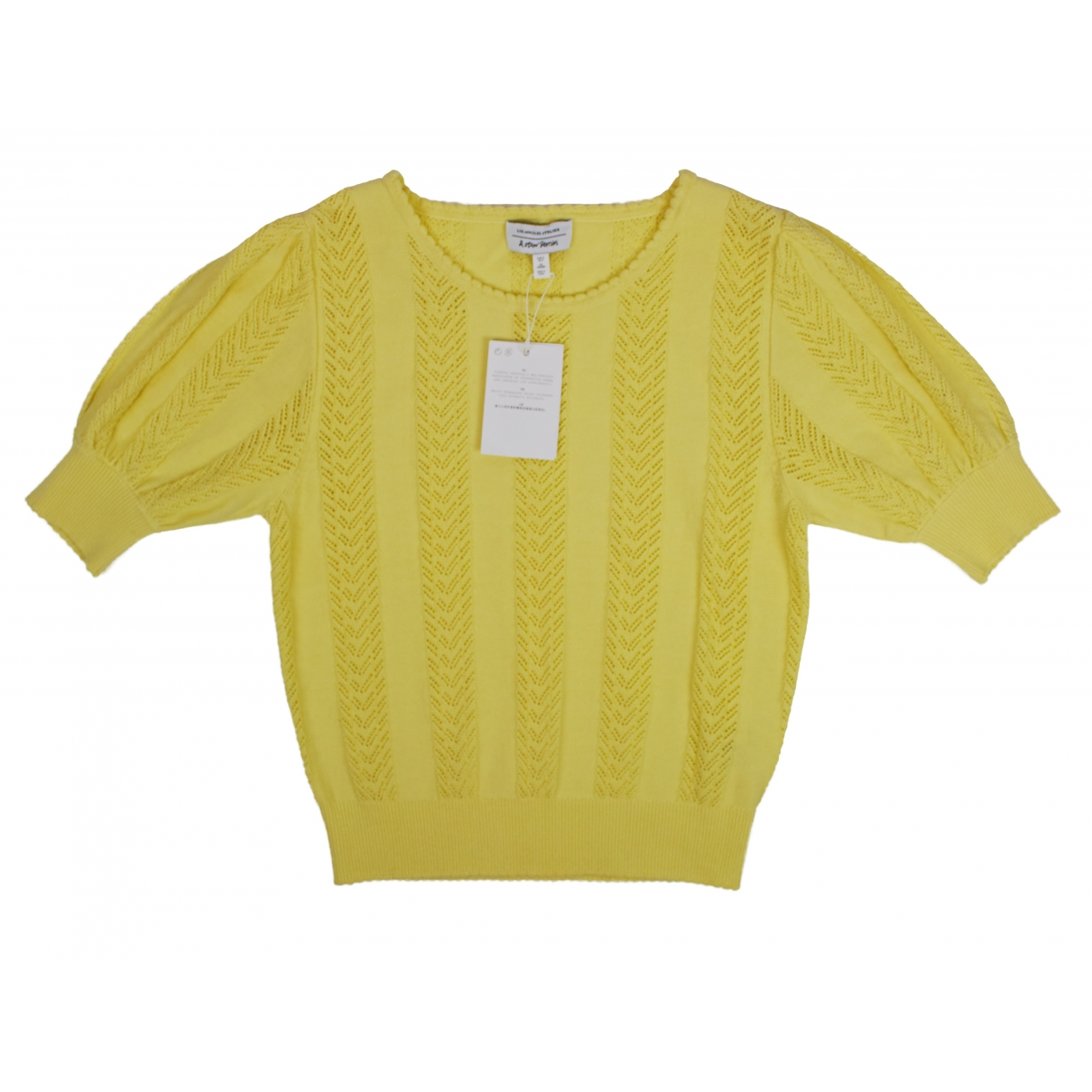 & Other Stories - Top   pour femme en coton - jaune