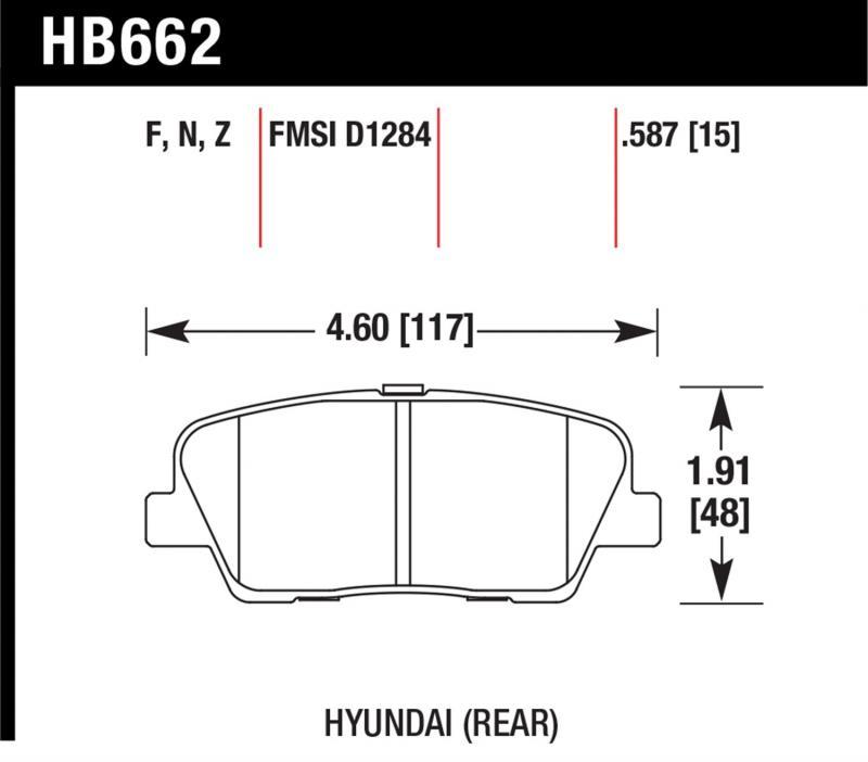 Hawk Performance HB662Z.587 Disc Brake Pad Rear